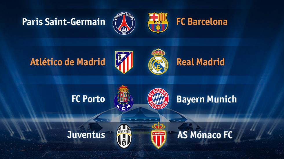 Atlético - Real Madrid y PSG - Barça, cruces de los cuartos