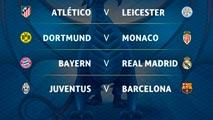 Ir al VideoEl Atlético se enfrentará al Leicester, el Madrid al Bayern y el Barça a la Juve
