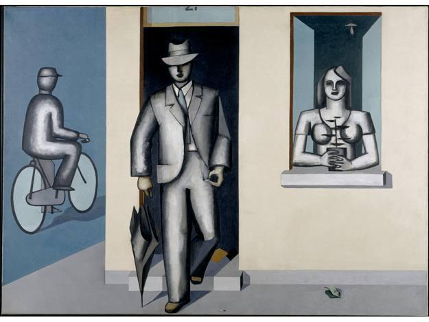 """""""Au cycliste"""", Jean Hélion, (1939)"""