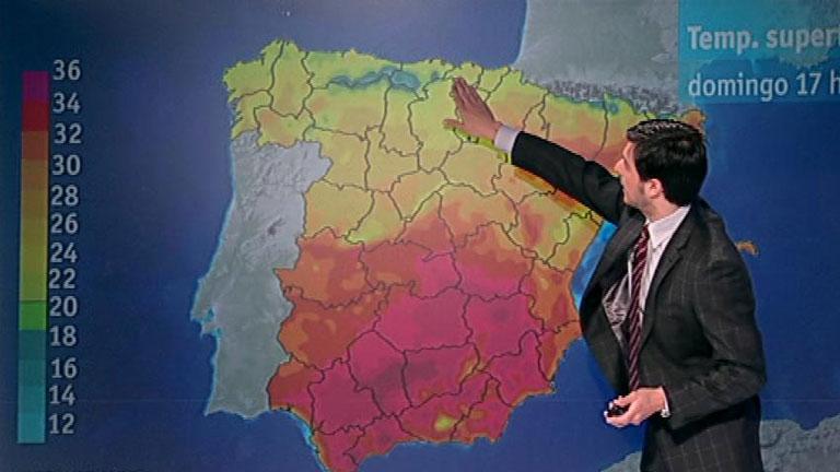 Suben ligeramente las temperaturas en el área mediterránea