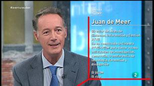 La Aventura del Saber. Juan de Meer, Director de Sistema de RTVE, y José Mª Álvarez Rodríguez. UC3M