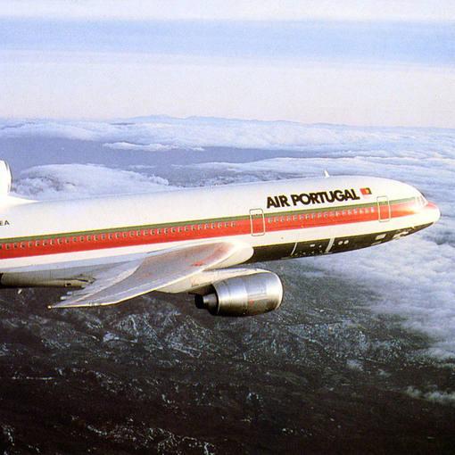 Un avión de la aerolínea portuguesa TAP