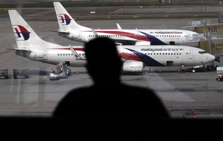 Aviones de Malaysia Airlines en el Aeropuerto de Kuala Lumpur