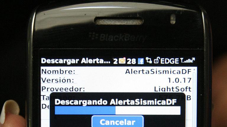 Aviso de terremoto en el móvil