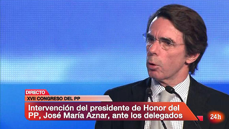 """Aznar: """"El PP es la única fuerza capaz de vertebrar España"""""""