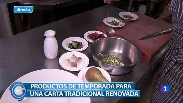 Más Gente - Más Cocina - Bacalao con habas y crema de pera