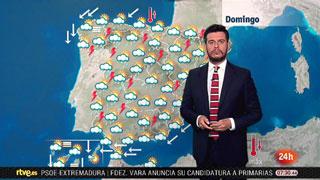 Bajada de los termómetros en Andalucía y Canarias y tormentas en el noroeste