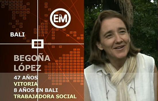Españoles en el mundo - Bali - Begoña