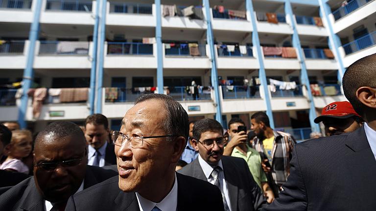 """Ban Ki-moon visita Gaza y asegura que la destrucción """"supera toda descripción"""""""
