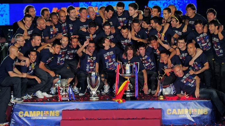 El Barça celebra la Copa en el Camp Nou