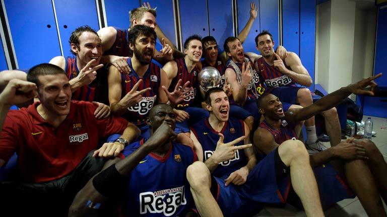 El Barça celebra la Liga
