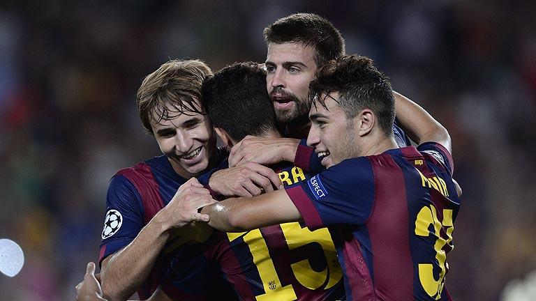 El Barça vence pero no convence en Champions