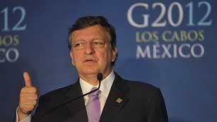 Barroso dice que la UE estudia cómo evitar que ayuda a España contamine a la deuda