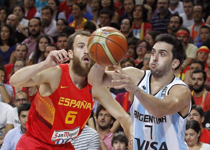 El base argentino Facundo Campazzo, en el amistoso contra España