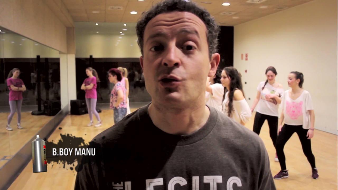 bboy Manu nos enseña el salsa front y el salsa step en uno de sus tutoriales de break
