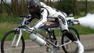 Una bici a más de 300 km/h