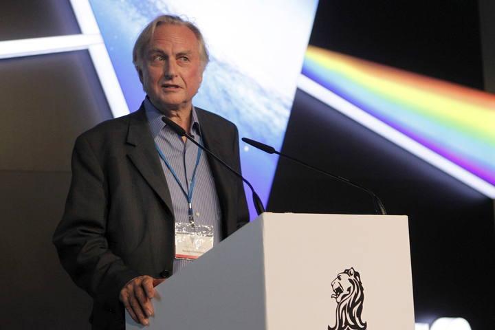 El biólogo evolucionista británico Richard Dawkins, durante su intervención en el festival científico Starmus 2014 en Tenerife.