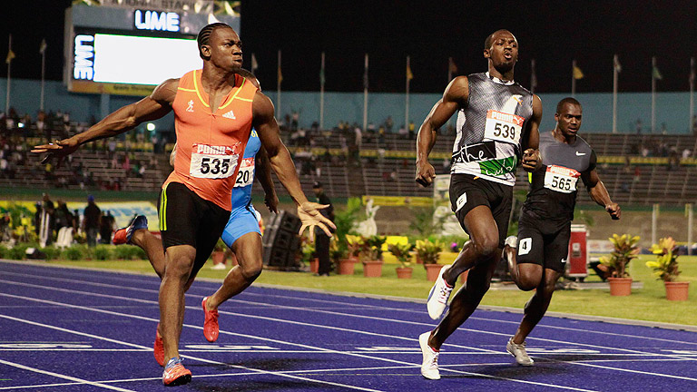 Blake bate a Usain Bolt