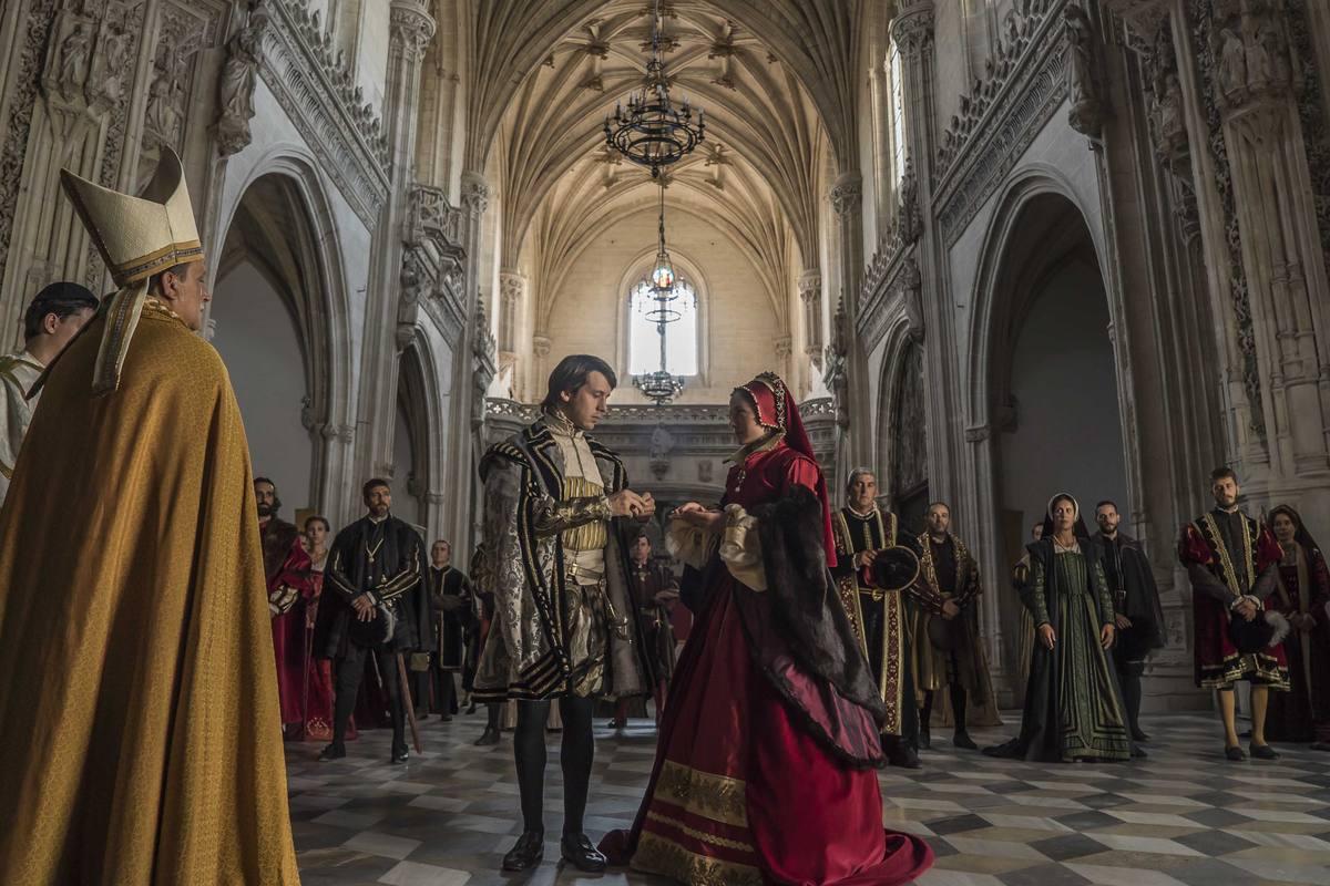 La boda de su hijo Felipe con María Tudor
