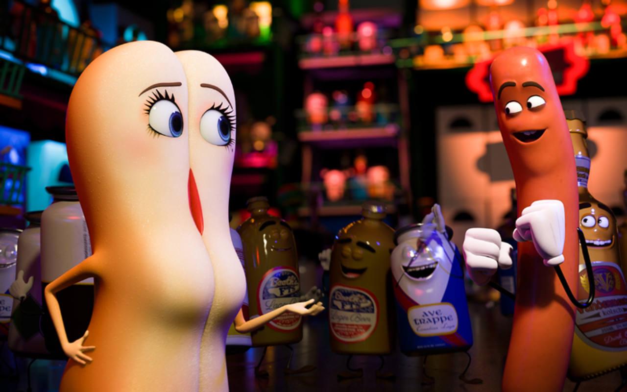 El bollo (Kristen Wiig) y la salchicha (Seth Rogen)