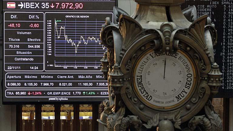 Las bolsas europeas pierden otro día más y las primas de riesgo se elevan