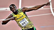 Bolt en la final de los 200