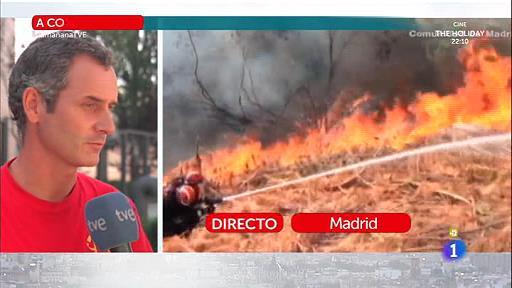 Bomberos españoles en el incendio de Portugal