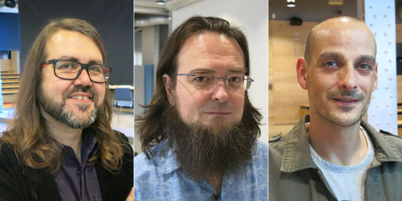 Borja Crespo, Mauro Entrialgo y David Aja, tres de los autores del cómic de Teresa Perales