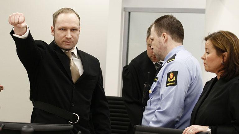 Breivik llega al tribunal