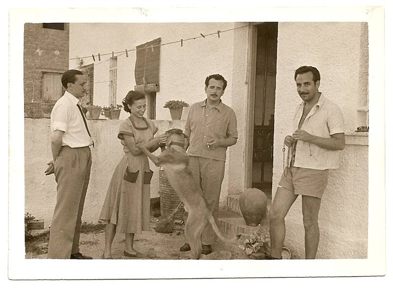 Buero y sus amigos Vicente y Blanca Soto, en Madrid en 1951