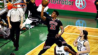 Los Bulls sorprenden en Boston y los Thunder son arrollados en Houston