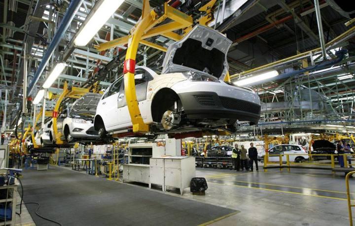 Cadena de producción de automóviles en la localidad valenciana de Almussafes