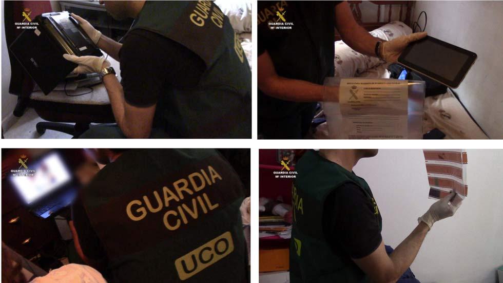 La Guardia Civil desarticula una red dedicada a la pornografía infantil