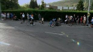 Caída del Garmin en la crono por equipos de la Vuelta