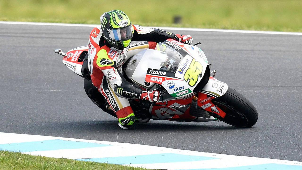 Cal Crutchlow durante la carrera en el GP de Australia