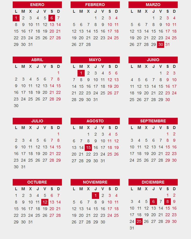Calendario Laboral De Cataluna.Calendario Laboral 2018 Mas De 200 Plantillas Para Imprimir