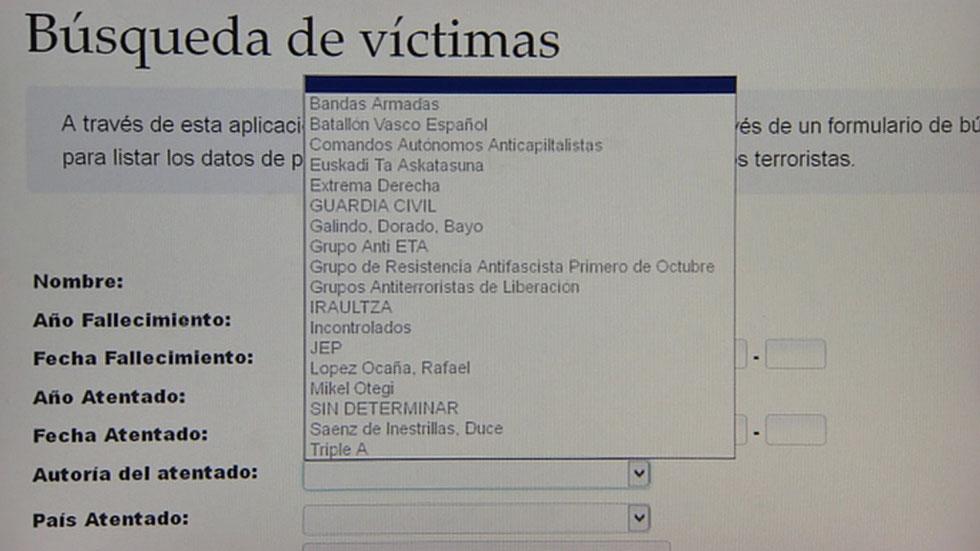 """La web del Gobierno vasco sobre víctimas califica por """"error"""" a la Guardia Civil de """"grupo terrorista"""""""