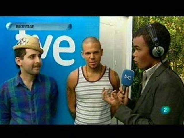 Con Calle 13 en el 'backstage' de Rock in Rio Madrid 2010