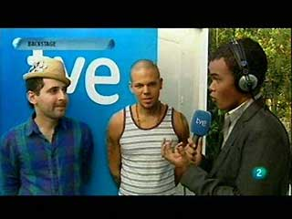 Con Calle 13 en el 'backstage' de Rock in Rio Madrid 2010