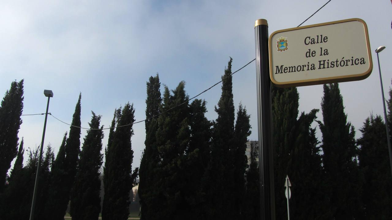 Calle de la Memoria Histórica, Ponferrada, León.