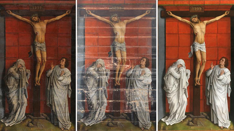 """El Calvario"""", de Rogier Van der Weyden, se expone en el Prado tras su restauración"""