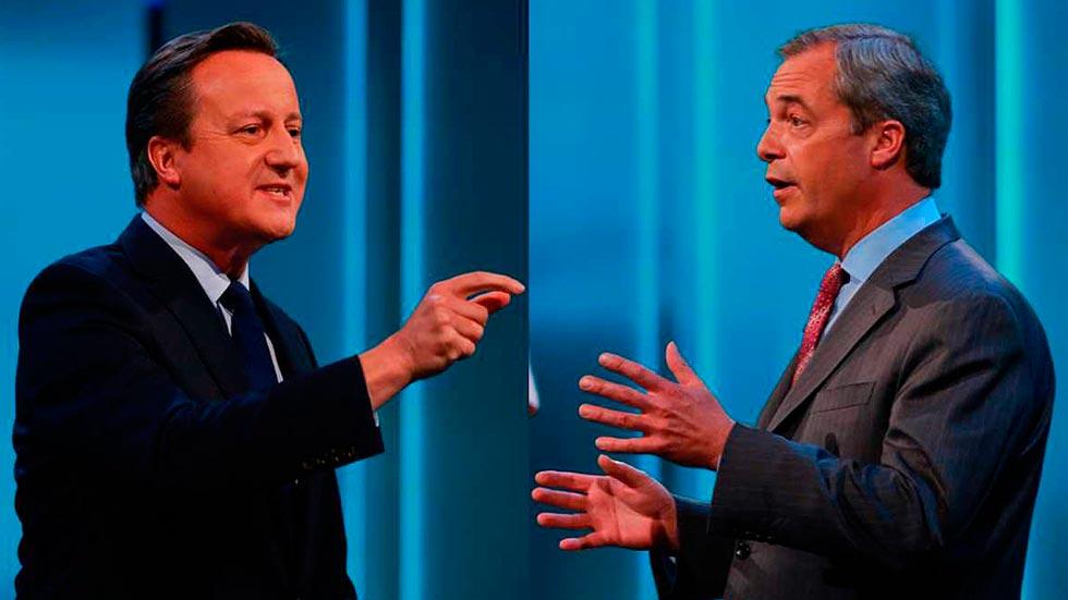 """Cameron alerta del peligro económico del """"Brexit"""" ante la postura euroescéptica de Farage"""