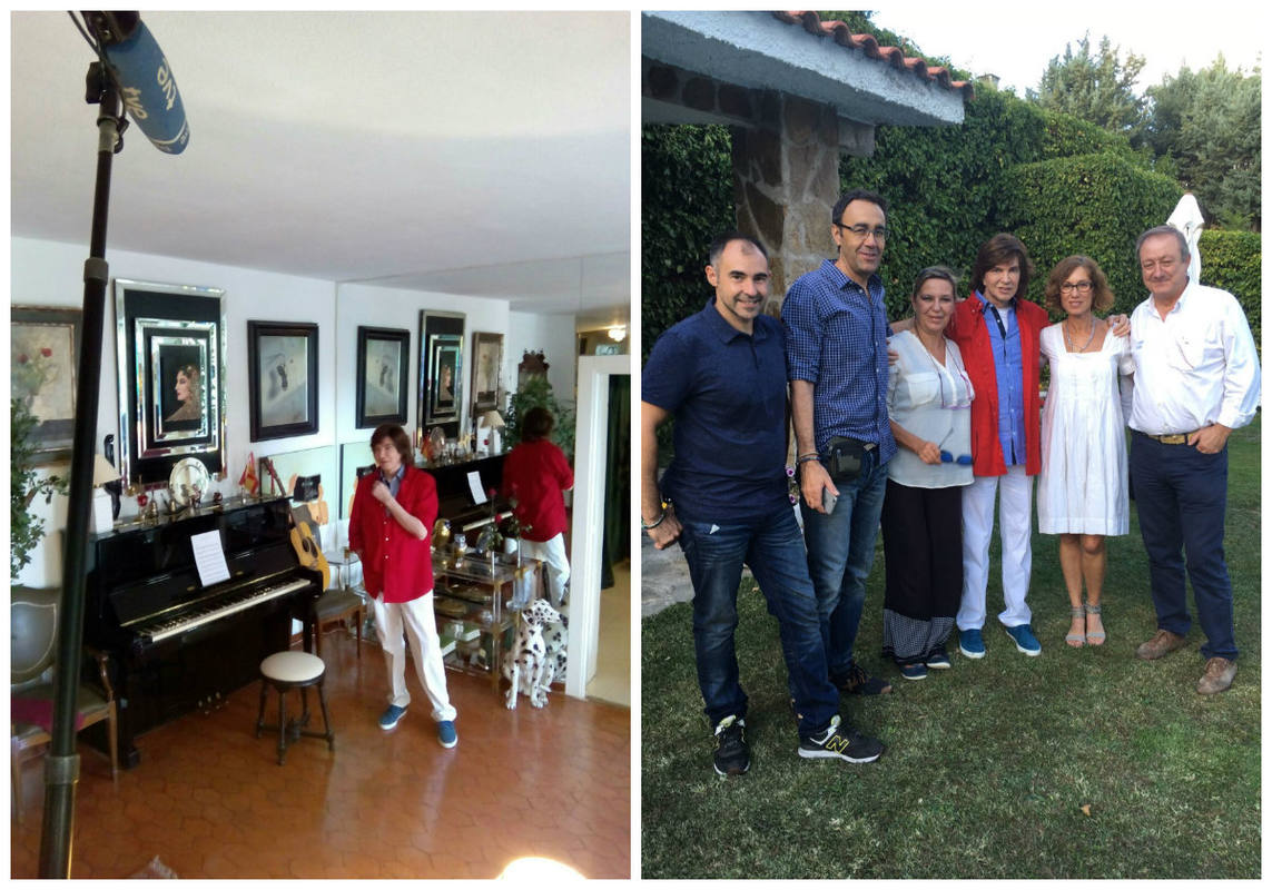 Camilo Sesto con el equipo de Informe Semanal