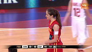 Baloncesto - Campeonato del Mundo Femenino Sub-17.1/4 Final: China-España