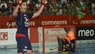Hockey sobre patines - Campeonato de Europa: España-Portugal