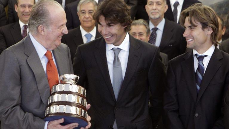 Los campeones de la Davis 2011, homenajeados por el Rey y Rajoy
