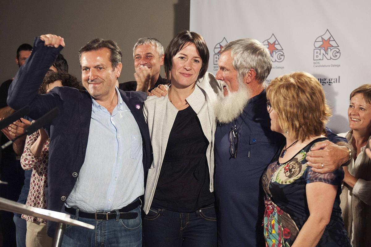 La candidata del BNG, Ana Pontón, tras conocer los resultados electorales.