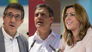 Los candidatos a liderar el PSOE continúan con su agenda para conseguir votos