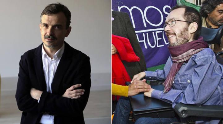 Los candidatos de Podemos en Madrid y Aragón, José Manuel López y Pablo Echenique