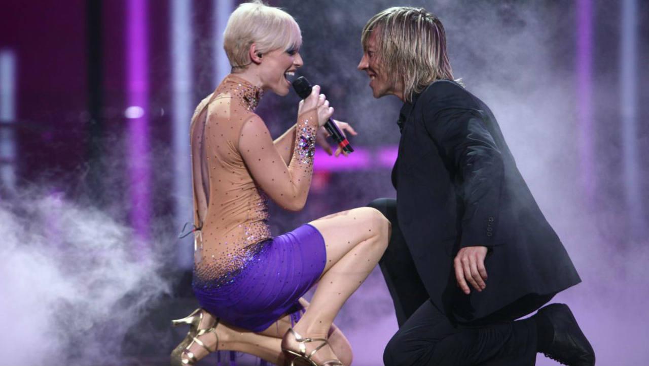 La cantante extremeña, durante su actuación en Eurovisión